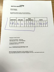 Lost Baggage application form in Amsterdam Airpo Schiphol