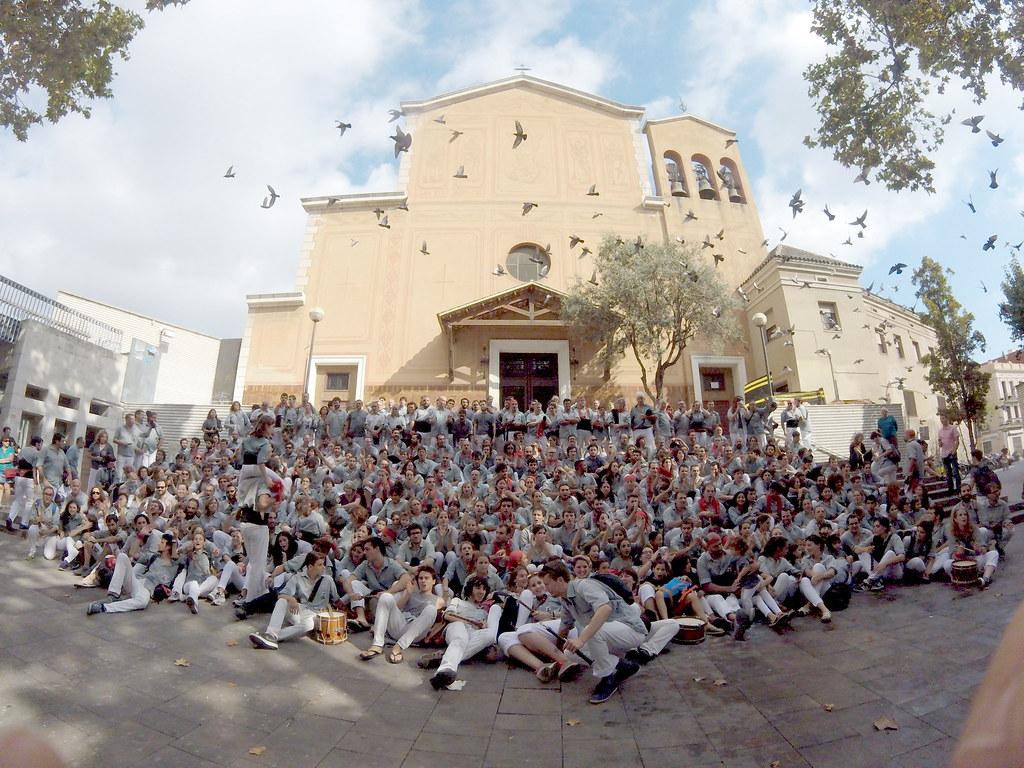XXVa Diada dels Castellers de Sants, Barcelona 15 d'octubre de 2017