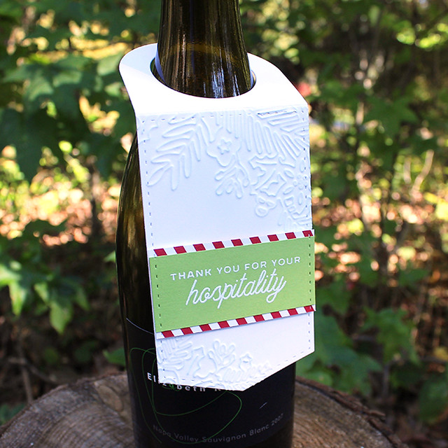 Christmas Hospitality Wine Tag