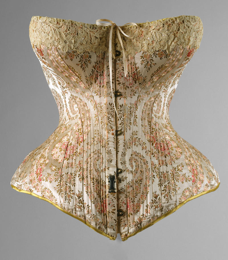1891 Corset. French. Silk. metmuseum
