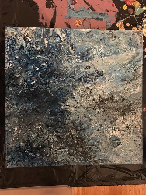 Blue - Fluid Acrylic Painting
