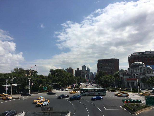 忠孝西路與中山北路的天橋