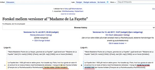 Dansk Wikipedia - Madame de La Fayette