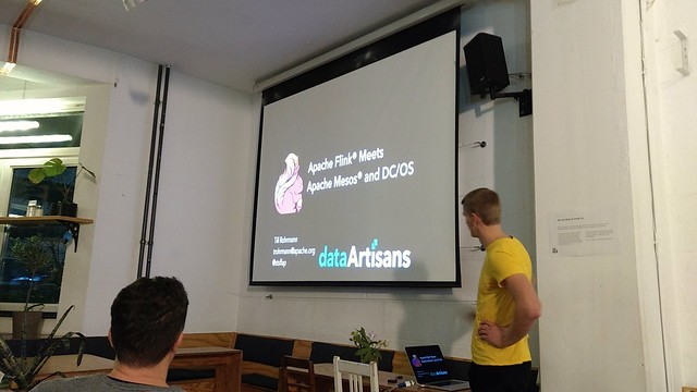 Now @stsffap with @ApacheFlink on @dcos #berlin