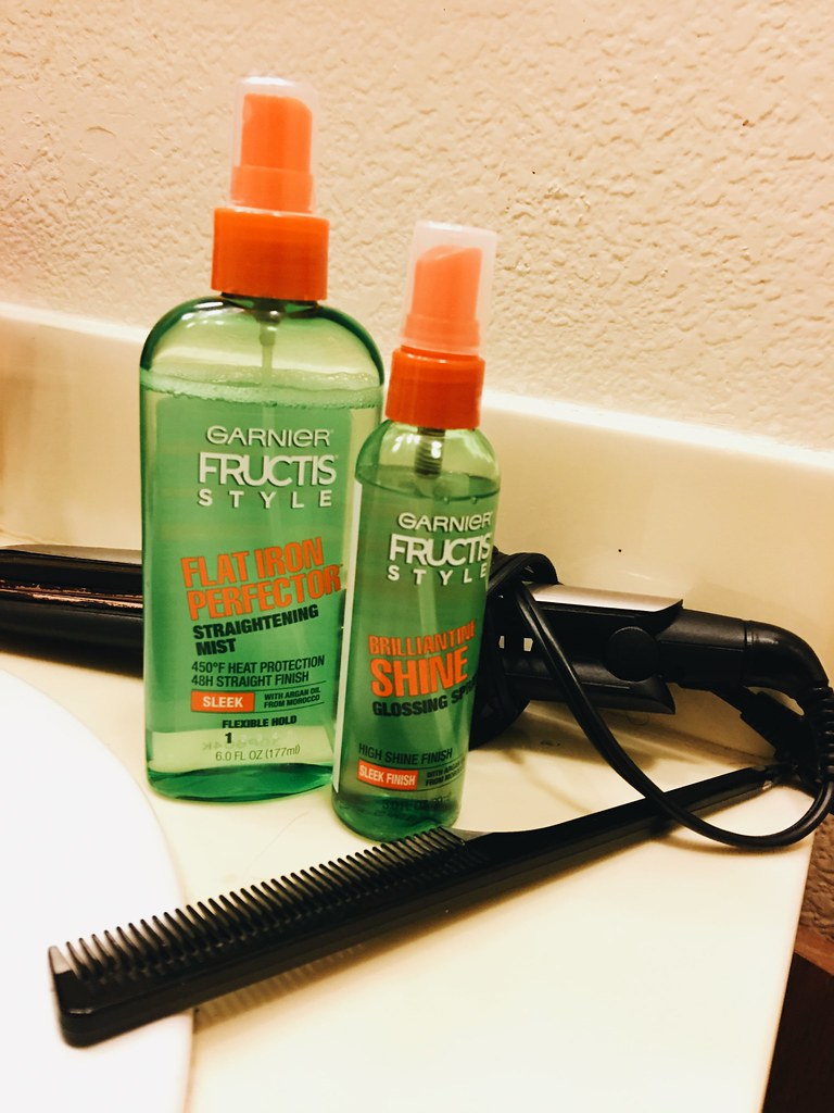Afro To Sleek Hair Using Garnier Fructis Style
