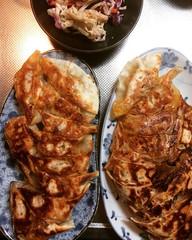 gyoza❤︎ ・ ・ ・ #餃子 #鯖缶ドライカレー #豆腐 #切り干し大根 #サラダ #大阪 #gyoza #mackerel #drycurry #tofu #kiriboshidaikon #salad #osaka #japan