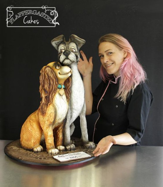 Lady and the Tramp 3D Cake by Flappergasted Cakes