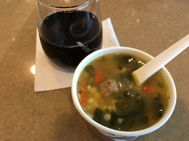 Italian meatball soup - American Airlines Admirals Club