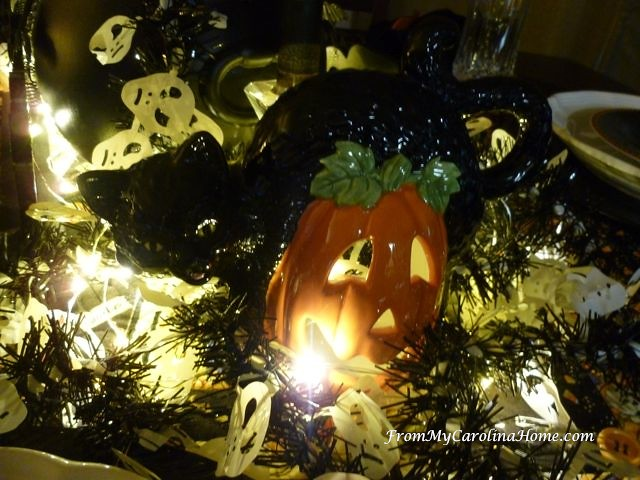 Halloween Tablescape ~ From My Carolina Home