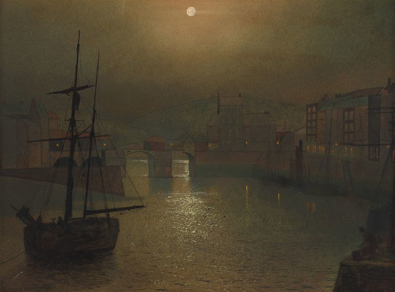 Harbor Scene by John Atkinson Grimshaw, 1878