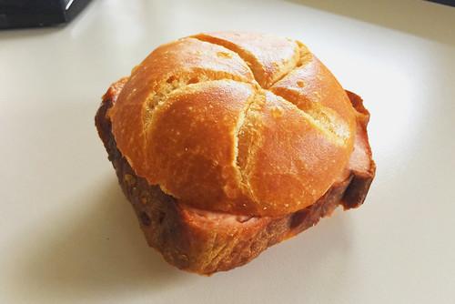 Bavarian meat loaf bun / Leberkässemmel