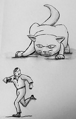#inktober2017 Run (from the gigantic cat)