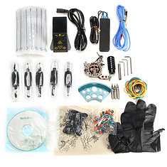 Professional Skull Embossed Tattoo Machine Kit With Rotary Table EP-2 Power Supply Equipment Suit (1095899) #Banggood