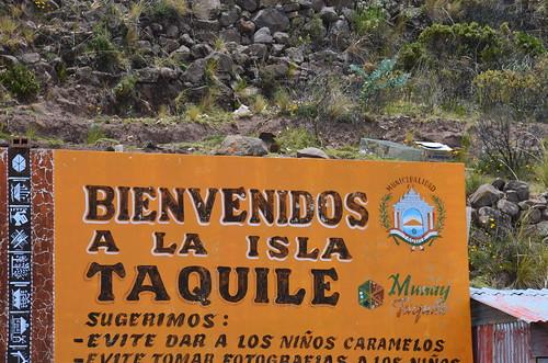 Willkommen auf Taquile, den Kindern keine Karamellen geben!