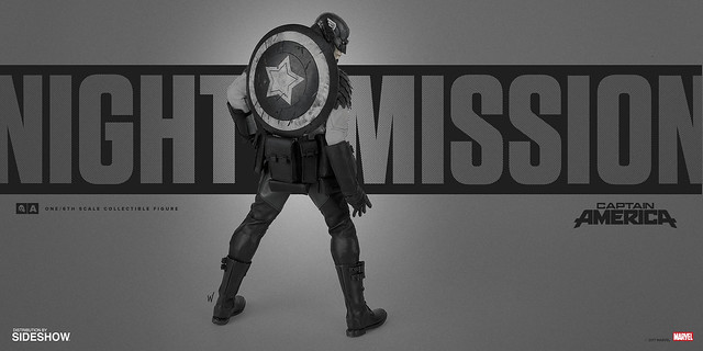 threeA × Marvel【暗夜行動 美國隊長】Night Mission Captain America 1/6 比例人偶作品