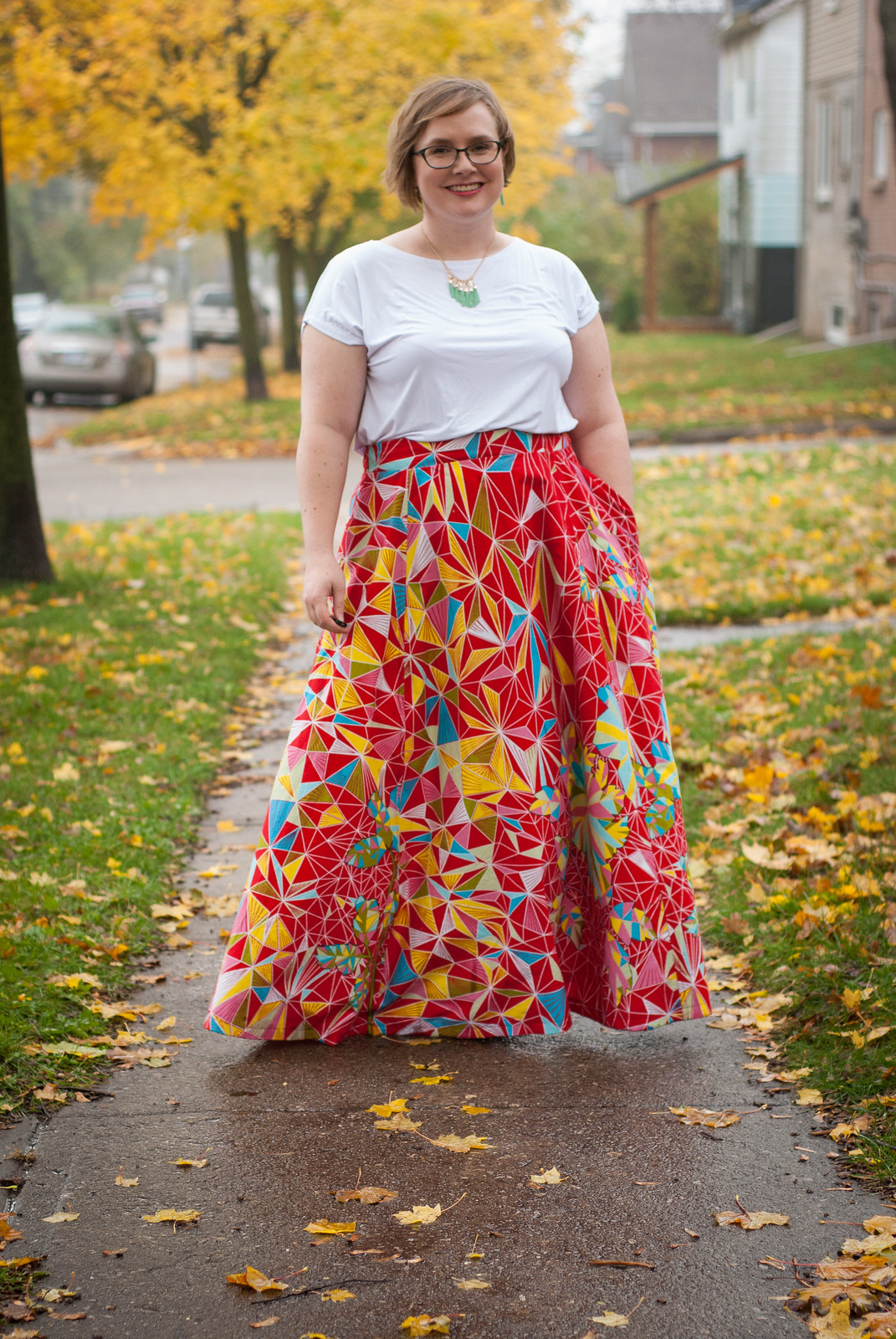 Wax Print Maxi Skirt