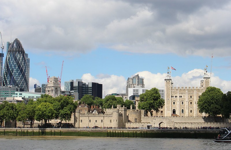 The Gherkin and Tower Of London