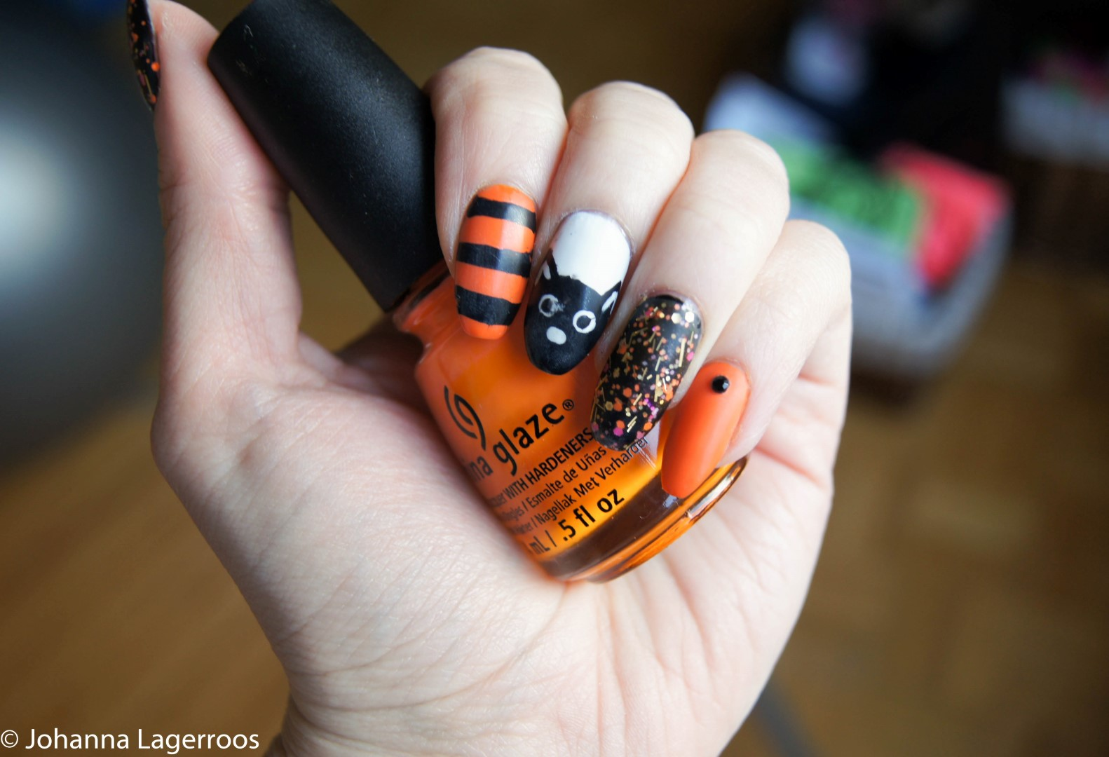 Halloween Nails 2017: Black Cat