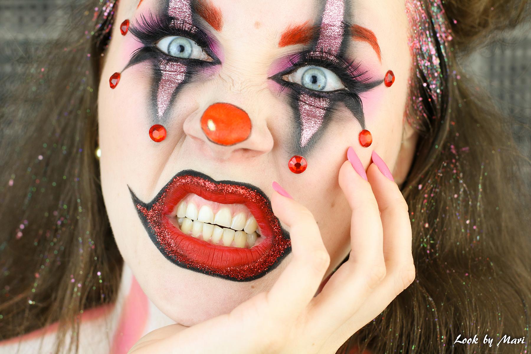 2 halloween pelle meikki tutoriaali blogi kaunis nätti pinkki punainen glitter
