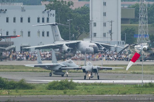 JASDF Chitose AB Airshow 2017 (12) 201SQ F-15J #860 & #909