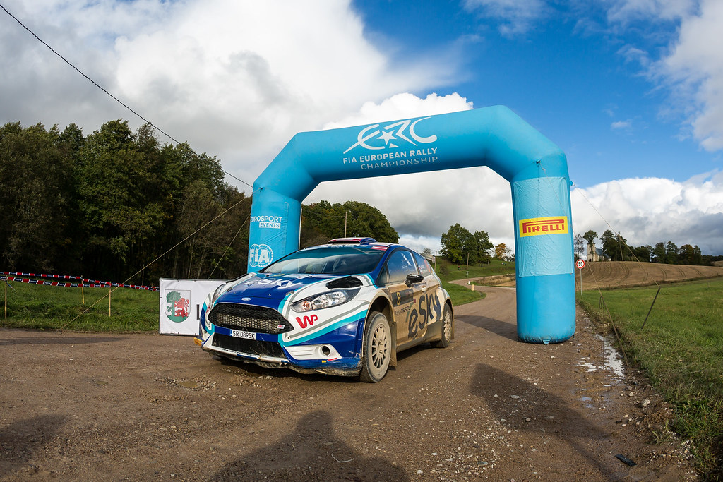 08 Habaj Lukasz and Dymurski Daniel, Rallytechnology, Ford Fiesta R5 action during the 2017 European Rally Championship ERC Liepaja rally,  from october 6 to 8, at Liepaja, Lettonie - Photo Thomas Fenetre / DPPI
