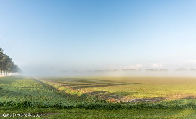 The fog pulls away...