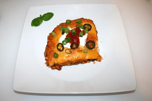 65 - Nacho Lasagne - Served / Serviert
