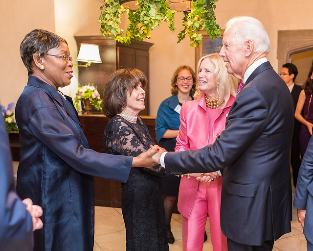 ISH-DC Board President Cynthia Bunton, 2017 Awards Dinner co-Chair Didi Cutler, Honorary co-Chair Susan BLumenthal Markey, welcoming Vice Presient Bid