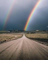 Rainbows everywhere ~ Kiowa, Colorado. U.S. 🌈👌Photo by...