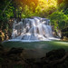 Amazing beautiful waterfalls in tropical forest at Huay Mae Khamin Waterfall Level 3