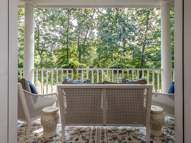 Upper back porch-Housepitality Designs