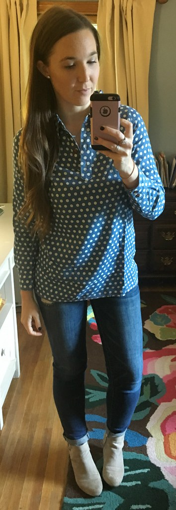 Matilda Jane polka dot denim shirt