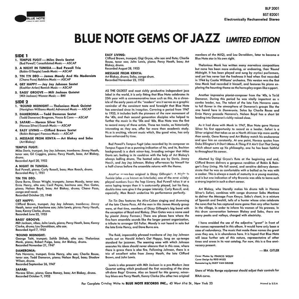 Various Artists - Blue Note Gems of Jazz