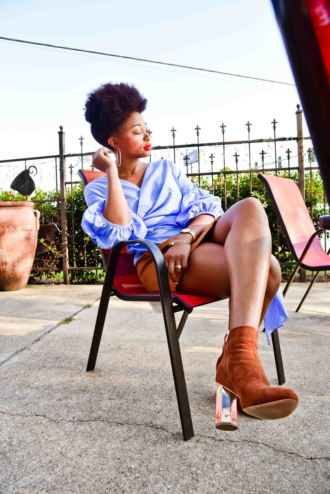 how to style suede booties, candace hampton