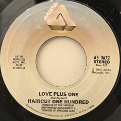 HAIRCUT ONE HUNDRED:LOVE PLUS ONE(LABEL SIDE-A)