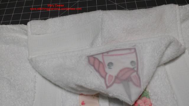 inside of hooded towel