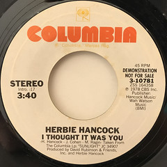 HERBIE HANCOCK:I THOUGHT IT WAS YOU(LABEL SIDE-A)