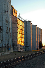 Wilson, Kansas Old Grain Elevator.