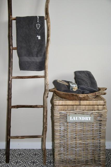 Badkamer mand ladder handdoek