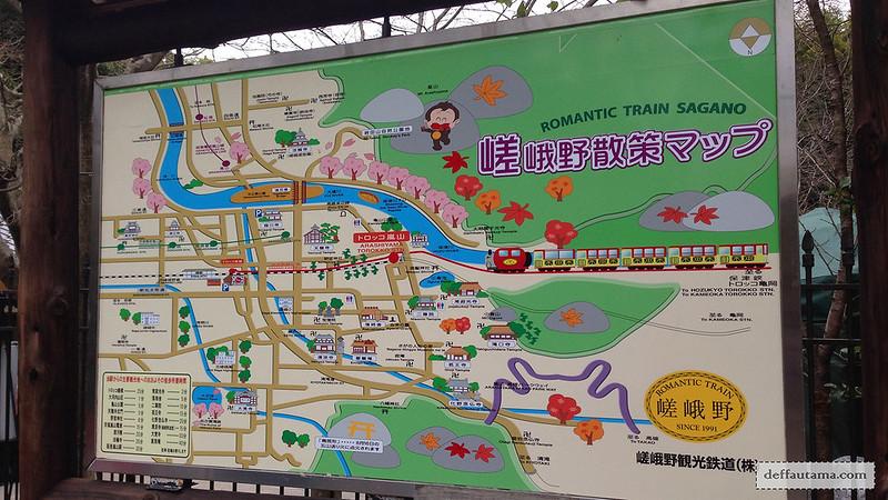 3 Hari Keliling Kyoto - Romantic Sagano Train Map
