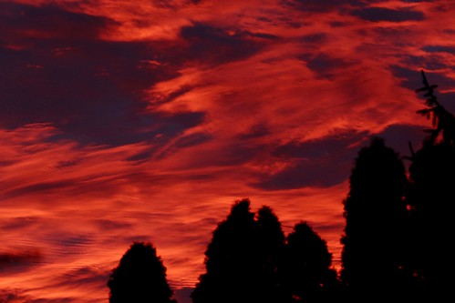 red sunrise