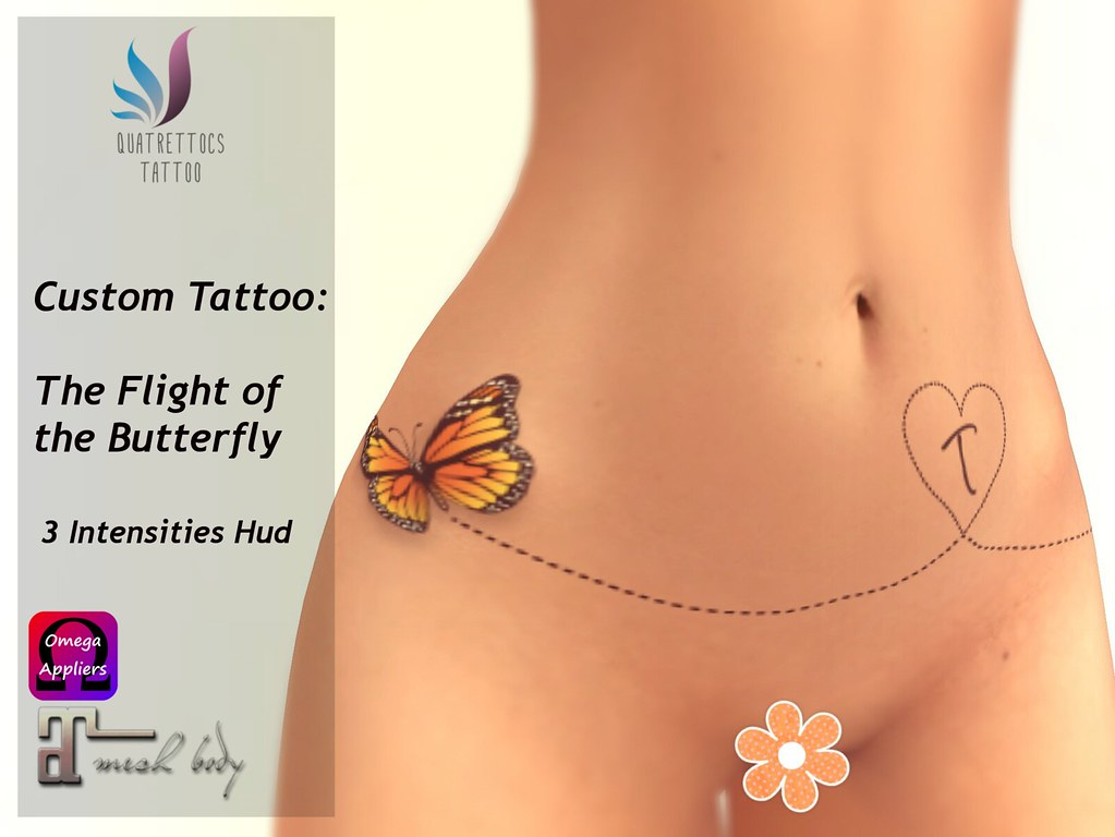 The Flight of the Butterfly - Custom Tattoo - TeleportHub.com Live!