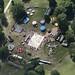 Christchurch Park fair in Ipswich - Suffolk aerial view