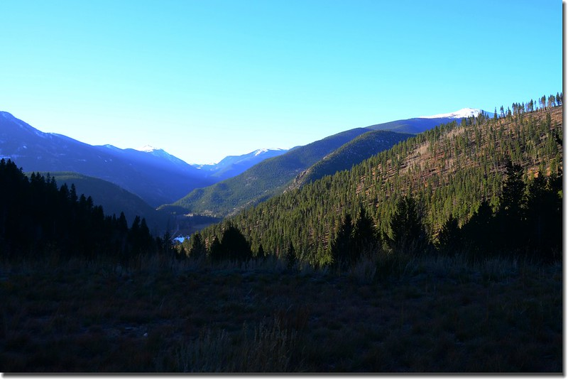 Looking South at Guanella Pass from Bill Moore Lake Trail parking lot