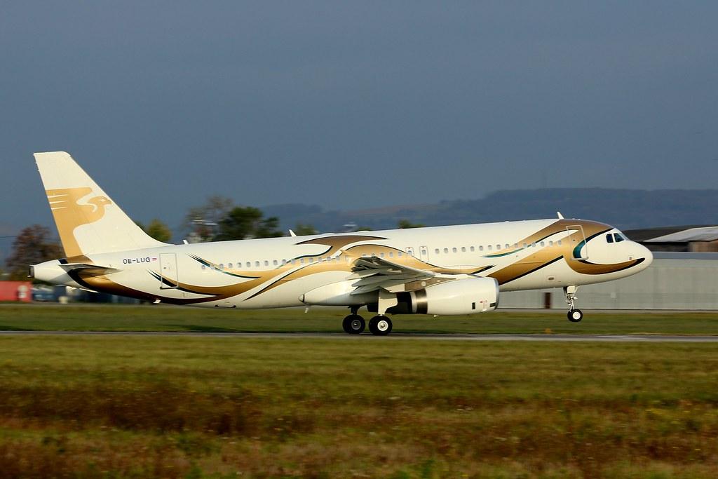 OE-LUG ex M-YKDA , Airbus A320-232 , LFSB