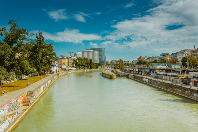 Donau river Vienna