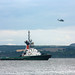 HP6-10 Merlin Helicopter & Tug Corringham, Hound Point, River Forth