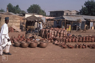 Hand made earthenware  pots 1981 (No potters wheel) Zaria road 1981
