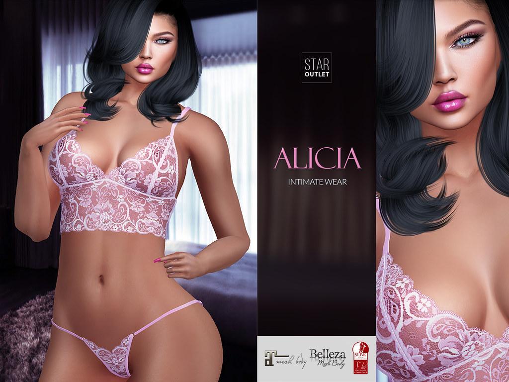 Star Outlet Lingerie Alicia Pink (Maitreya, Slink, Belleza)