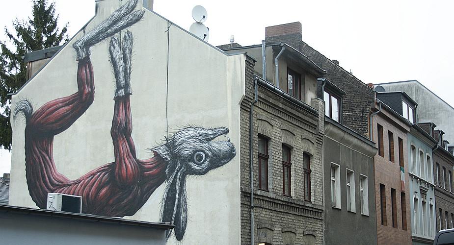 Bezienswaardigheden in Keulen. Street art in Keulen: ROA | Mooistestedentrips.nl